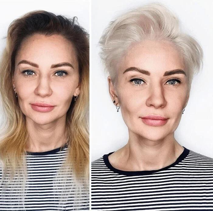прическа, женщина, макияж