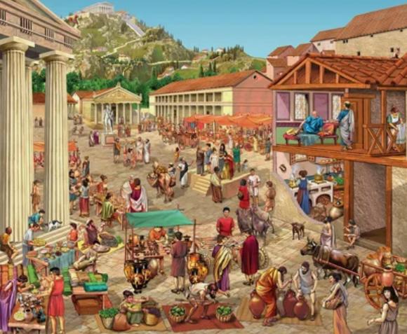 рынок в Древнем Риме