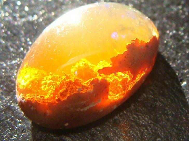 опал, камень, рассвет