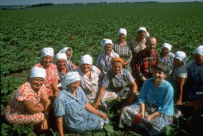 Американские фермеры навестили советский колхоз