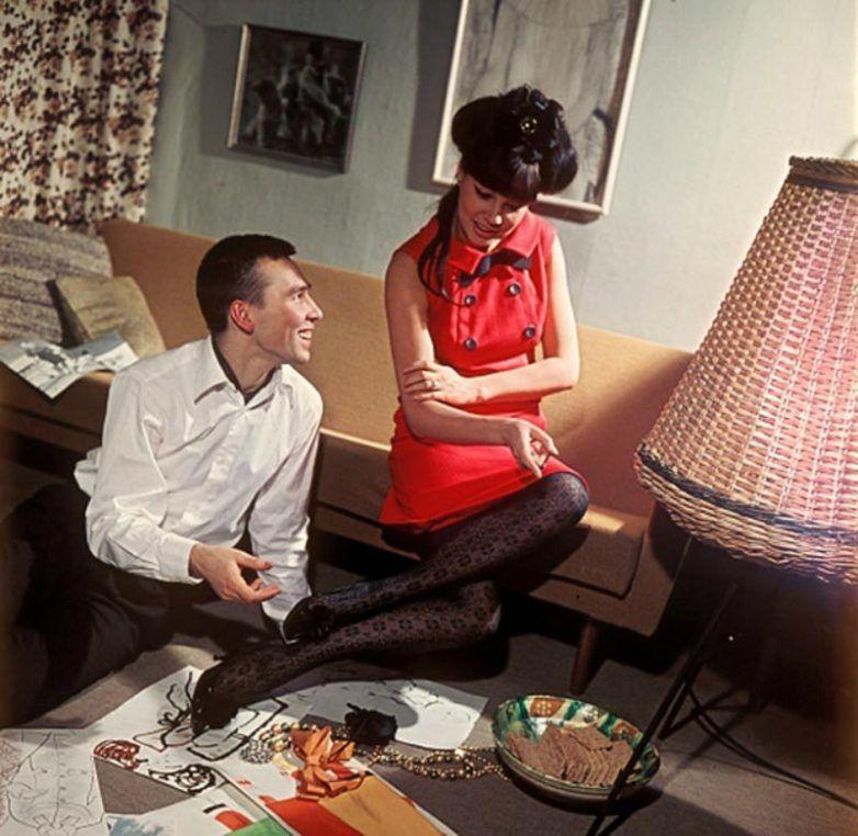Слава Зайцев и Регина Збарская, 1966 год