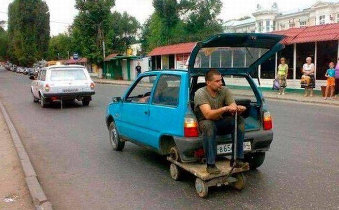 автомобиль, мужчина, приспособление