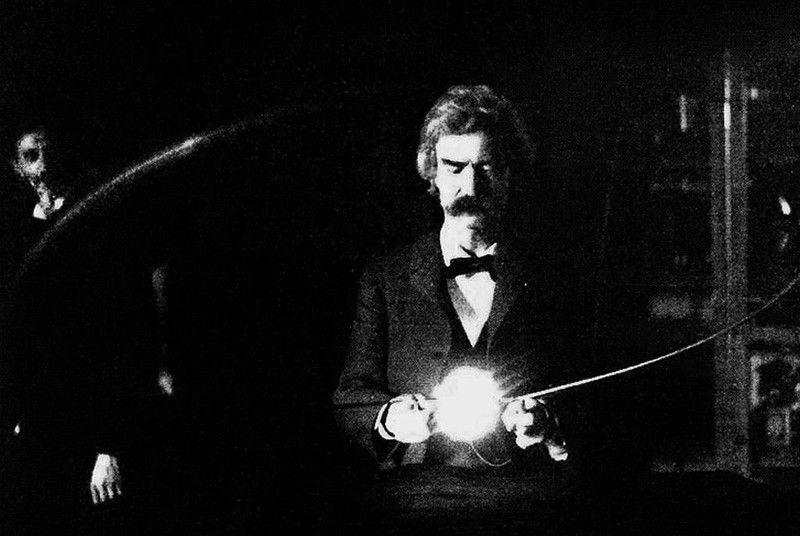 лаборатория, писатель, Твен, Тесла