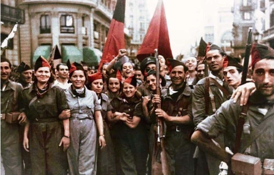 анархисты, Испания, флаги
