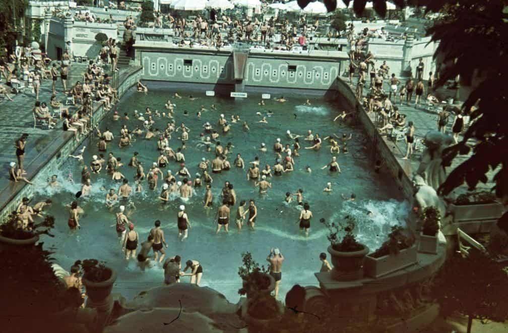 купальня, люди, бассейн