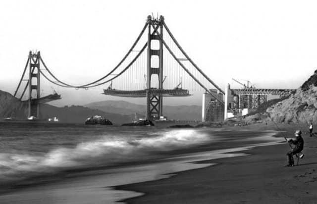 мост, вода, стройка