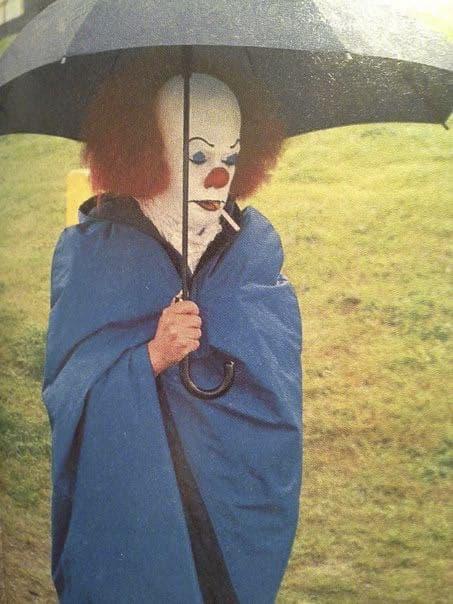 Оно, актер, зонт, клоун