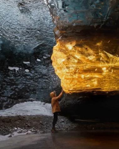 янтарь, лед, пещера