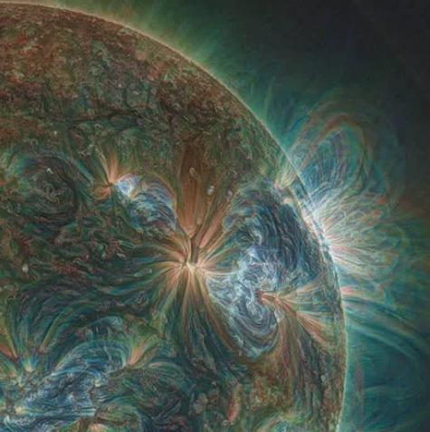 солнце, линза