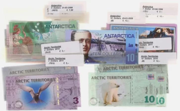 Банкноты, выпускаемые Антарктическим Заморским Банком