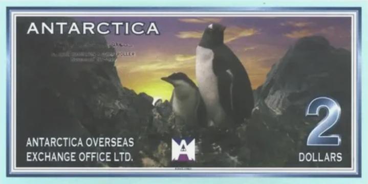 Антарктическая валюта стоимостью 2 доллара