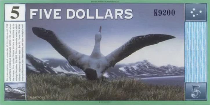 Антарктический доллар оборотная сторона