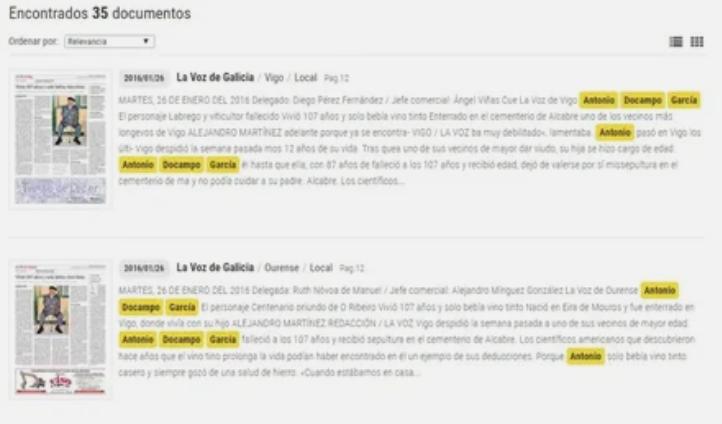 статья в испанской газете
