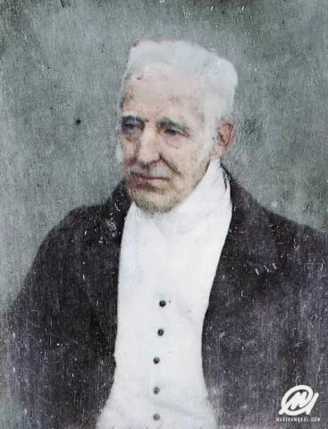 Артур Уэлсли, 1-й герцог Веллингтон, в возрасте 74 или 75 лет в 1844 году. Он победил Наполеона в битве при Ватерлоо в 1815 году