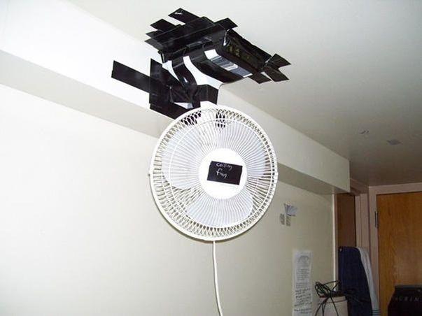 вентилятор, скотч