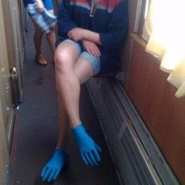 перчатки, ноги, женщина